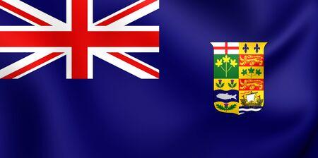 ensign: Canadian Blue Ensign (1868-1921). Close Up.