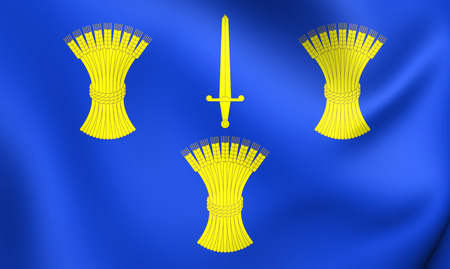3D Flag of Cheshire County, England. Close Up.