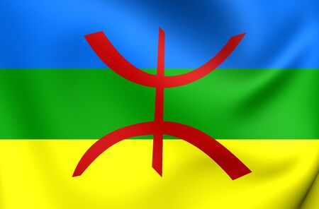 berber: 3D Berber Flag. Close Up. Stock Photo