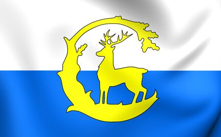 the royal county: 3D Flag of Berkshire, England. Close Up.
