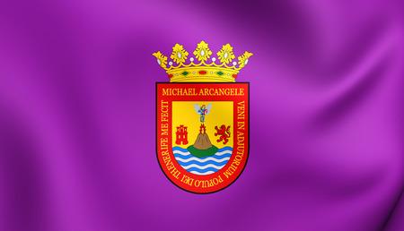 santa cruz de tenerife: San Cristobal de La Laguna Flag (Santa Cruz de Tenerife), Spain.