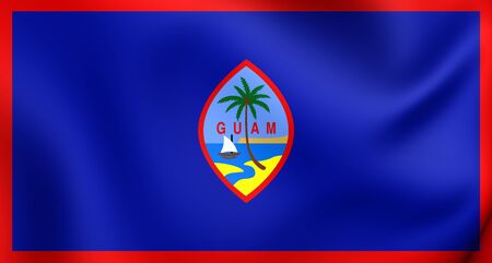 guam: 3D Flag of the Guam. Close Up.