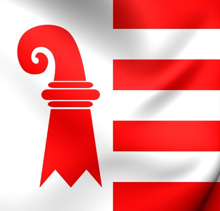 canton: Canton of Jura Flag, Switzerland. Close Up.