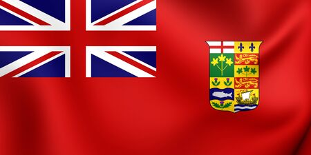 ensign: Canadian Red Ensign (1868-1921). Close Up.