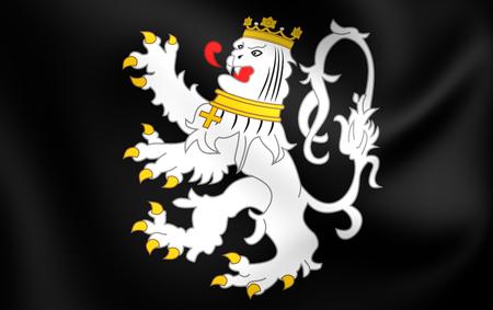gent: 3D Flag of Ghent City, Belgium. Close Up. Stock Photo