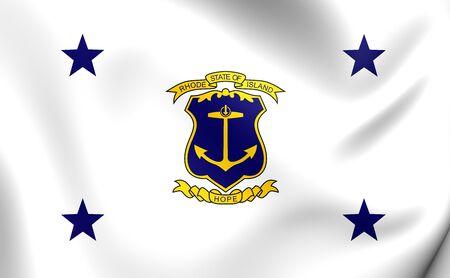 governor: Governor of Rhode Island Flag. Close Up. Stock Photo