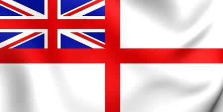 ensign: Naval Ensign of United Kingdom. Close Up.
