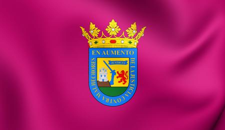 alava: 3D Flag of Alava Province, Spain. Close Up.