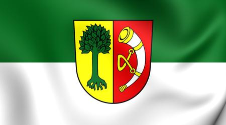 friedrichshafen: 3D Flag of Friedrichshafen City (Baden-Wurttemberg), Germany.
