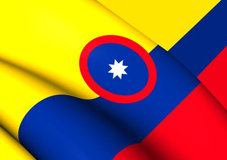 ensign: Civil Ensign of Colombia. Close Up.