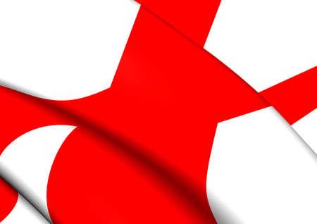 Alabama: 3D Flag of Alabama, USA. Close Up. Stock Photo
