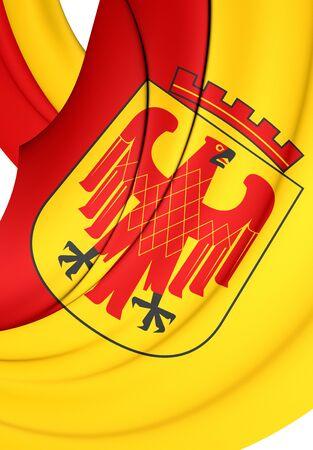 brandenburg: 3D Flag of Potsdam City (Brandenburg), Germany.
