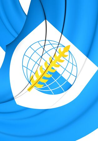 treaty: 3D Flag of South East Asia Treaty Organization. Close Up.