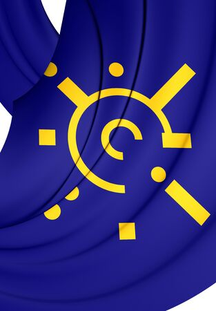 central european: 3D Flag of Central European Free Trade Agreement. Close Up. Stock Photo