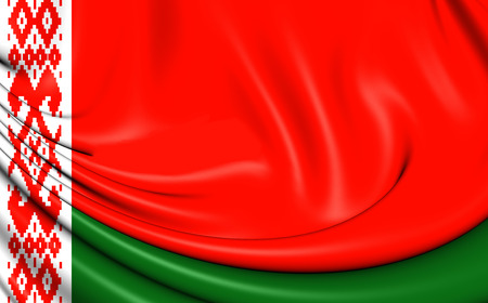 flutter: 3D Flag of the Belarus. Close Up.