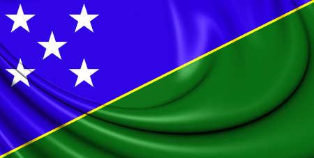 3d flag: 3D Flag of Solomon Islands. Close Up.