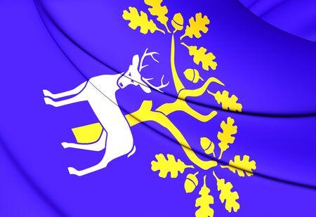 berkshire: 3D Flag of Berkshire, England. Close Up.