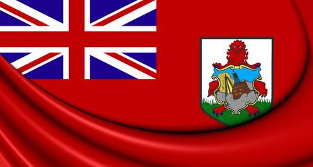 isles: 3D Flag of the Bermuda. Close Up.