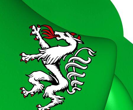 steiermark: Styrian Banner of Arms, Austria. Close Up. Stock Photo