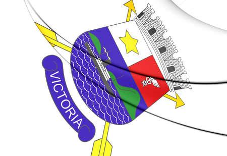 vitoria: 3D Flag of Vitoria (Espirito Santo), Brazil.