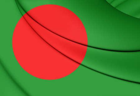 3d flag: 3D Flag of the Bangladesh. Close Up. Stock Photo