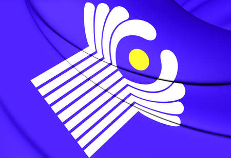 commonwealth: Commonwealth of Independent States Flag. Close Up.