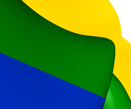 municipality: 3D Flag of Corozal Municipality, Puerto Rico. Stock Photo