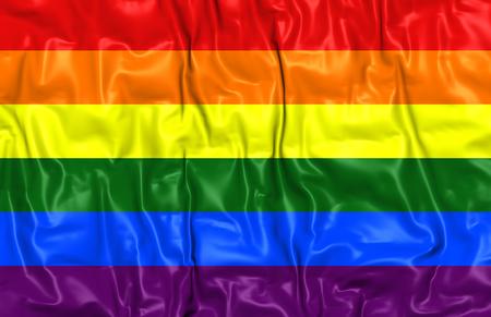 bandera gay: Bandera del orgullo gay. Acercamiento.