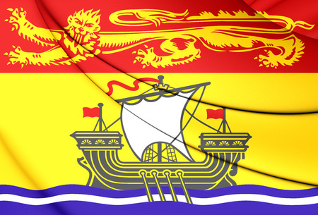 province: 3D Flag of New Brunswick Province, Canada. Stock Photo