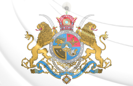 imperial: 3D Imperial Coat of Arms of Iran.
