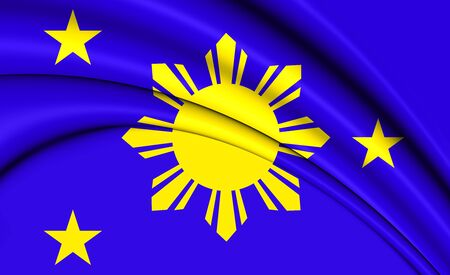 naval: 3D Naval Jack of Philippines. Close Up.