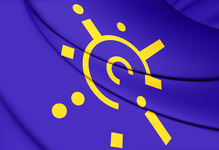 central european: 3D Flag of Central European Free Trade Agreement. Stock Photo