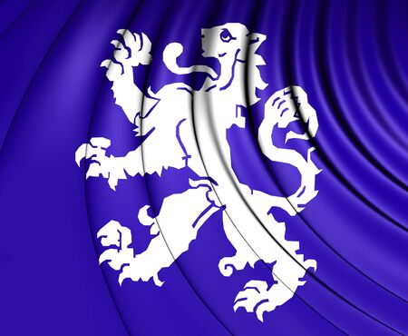 north holland: 3D Flag of Heemskerk (North Holland), Netherlands.