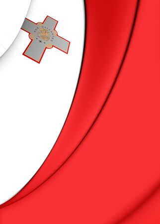 malta: 3D Flag of the Malta. Close Up.