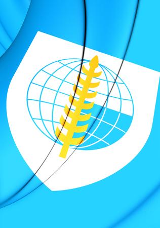 pacto: Indicador 3D de Organización del Tratado del Sudeste Asiático.