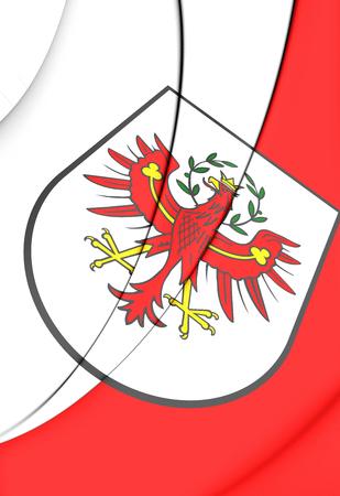 tyrol: 3D Flag of Tyrol, Austria. Close Up. Stock Photo