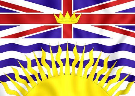 british columbia: 3D Flag of British Columbia, Canada. Close Up.