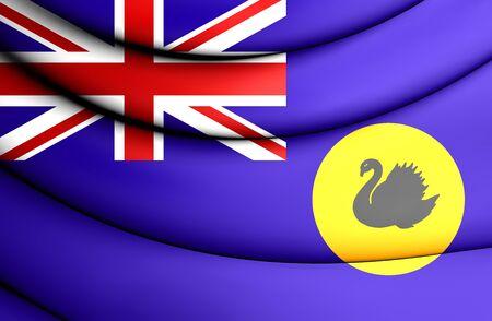 western australia: 3D Flag of Western Australia. Close Up. Stock Photo