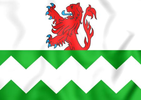 westland: 3D Flag of Westland (South Holland), Netherlands.
