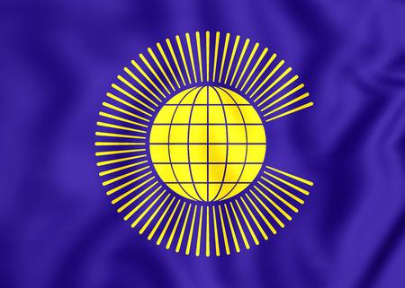 5Commonwealth_of_Nations 3D Commonwealth of Nations Flag. Close Up.