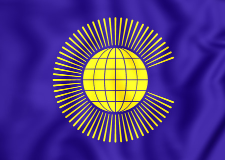 nations: 5Commonwealth_of_Nations  3D Commonwealth of Nations Flag. Close Up.