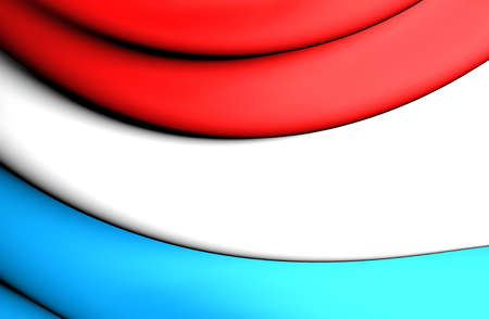 luxembourg: 3D Flag of the Luxembourg. Close Up.