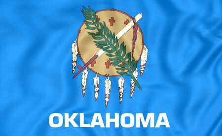 united states flag: 3D Flag of Oklahoma, USA. Close Up.