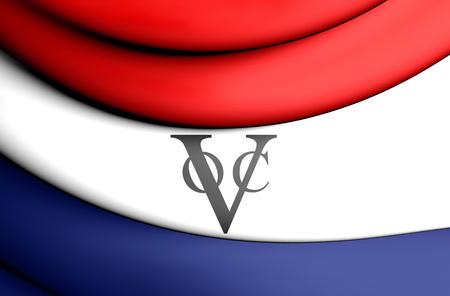 india 3d: 3D Flag of Dutch East India Company.