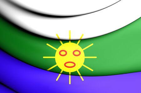 bandera de puerto rico: Indicador 3D de Las Piedras, Puerto Rico. Foto de archivo