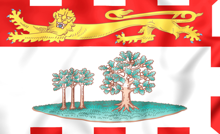 edward: 3D Flag of Prince Edward Island, Canada.