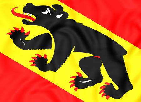 Flag 3D du canton de Berne, en Suisse. Fermer. Banque d'images - 50162241