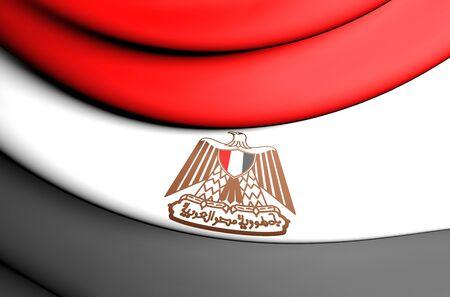 bandera de egipto: 3D Flag of the Egypt. Close Up.