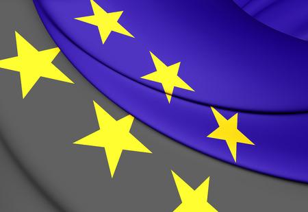 european community: 3D European Coal and Steel Community Flag Stock Photo
