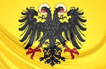 holy roman emperor: 3D Flag of Holy Roman Empire (1400-1806).